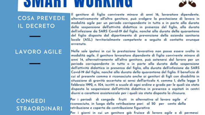 PERMESSI GENITORI FINO AL 30 06 2021 CONGEDI SMART WORKING